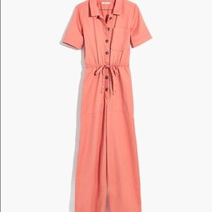 New With Tags Madewell Wide-leg Utility Jumpsuit
